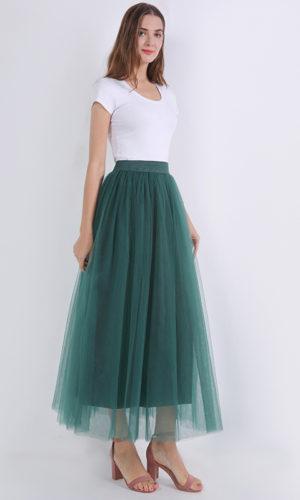 Futa Tulle Verde Malika Fashion
